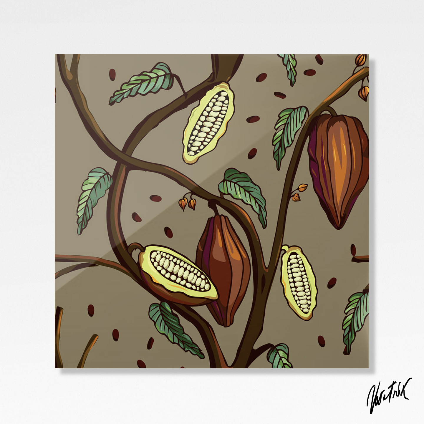 Cocoa Tree Pattern 2