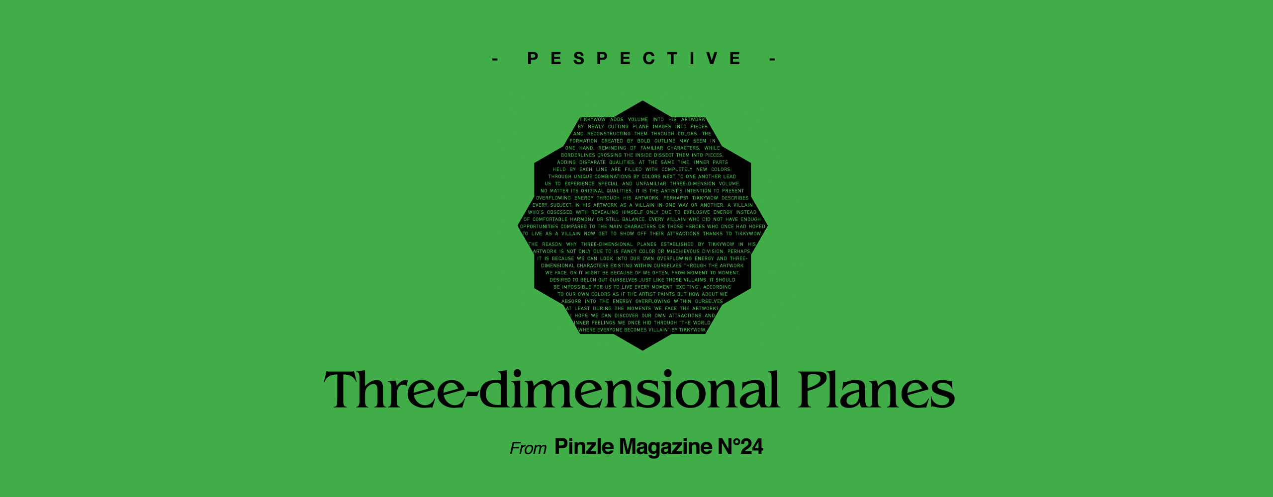 [PESPECTIVE] Three-dimensional Planes